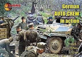 Mars WWII German Auto Crew in Action (40) Plastic Model Military Figure 1/72 Scale #72013