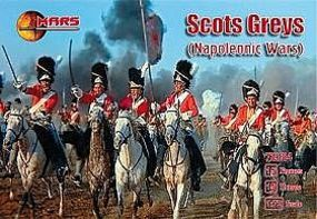 Mars Napoleonic War Scots Greys (15 Mounted) Plastic Model Military Figure 1/72 Scale #72024