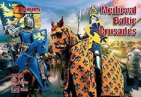 Mars Medieval Baltic Crusades (36 w/4 Horses) Plastic Model Military Figure 1/72 Scale #72030