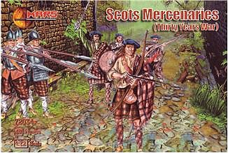 Mars Thirty Years War Scots Mercenaries (48) Plastic Model Military Figure 1/72 Scale #72034