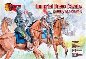 Mars Thirty Years War Imperial Heavy Cavalry (12 Mtd) Plastic Model Military Figure 1/72 #72041