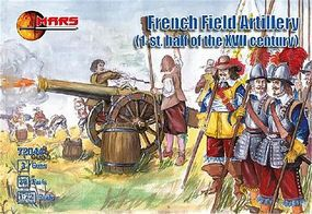 Mars 1st Half XVII Century French Field Artillery (36) Plastic Model Military Figure 1/72 #72044