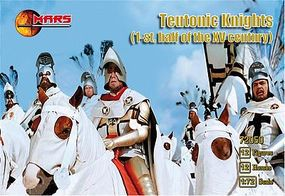 Mars 1st Half XV Century Teutonic Knights (12 Mounted) Plastic Model Military Figure 1/72 #72050