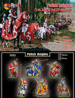 Mars 1st Half XV Century Polish Knights (12 Mounted) Plastic Model Military Figure 1/72 #72051