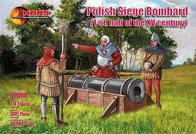Mars Polish Siege Bombard (52) with Guns (4) Plastic Model Military Figure 1/72 Scale #72062