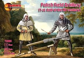 Mars Polish Field Artillery (36) with Guns (4) Plastic Model Military Figure 1/72 Scale #72063