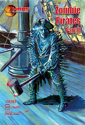 Mars Zombie (Skeleton) Pirates Part II Plastic Model Fantasy Figure 1/72 Scale #72090