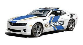 Maisto 2010 Camaro SS RS Police Car (White w/Blue/Gold Striping) Diecast Model Car 1/18 #31161wht