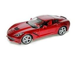 Maisto 2014 Corvette Stingray Coupe (Metallic Red) Diecast Model Car 1/18 Scale #31182red