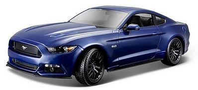 Maisto International 2015 Ford Mustang (Blue) -- Diecast Model Car -- 1/18 Scale -- #31197blu