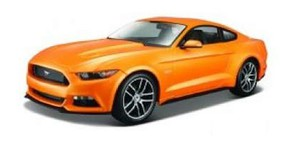 Maisto 2015 Ford Mustang (Orange) Diecast Model Car 1/18 Scale #31197org