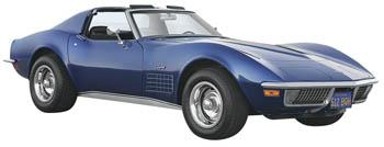 Maisto International 1970 Corvette -- Diecast Model Car -- 1/24 Scale -- #31202blu