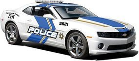 Maisto 2010 Camaro SS RS Police Car (White w/Blue/Gold Striping) Diecast Model Car 1/24 #31208wht