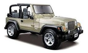 Maisto Jeep Wrangler Rubicon (Tan) Diecast Model Car 1/27 Scale #31245tan