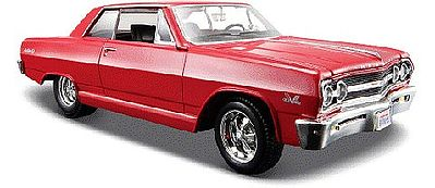 Maisto International 1965 Chevy Malibu SS (Red) -- Diecast Model Car -- 1/24 scale -- #31258red