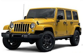 Maisto 1/24 2015 Jeep Wrangler Unlimited (Yellow)