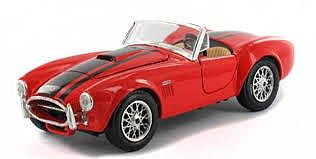 Maisto 1965 Shelby Cobra 427 Convertible (Red) Diecast Model Car 1/24 scale #31276red