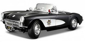 Maisto 1/18 1957 Corvette Police Car (Black/White)