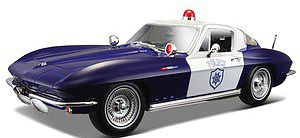Maisto International 1/18 1965 Chevy Corvette Police Car (Blue/White)