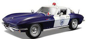 Maisto 1/18 1965 Chevy Corvette Police Car (Blue/White)