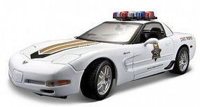 Maisto 1/18 2001 Chevy Corvette Z06 Police Car (White)