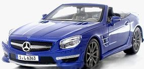 Maisto 2012 Mercedes Benz SL63 AMG Convertible (Met. Blue) Diecast Model Car 1/24 scale #31503blu