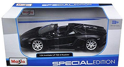 Maisto Lamborghini Aventador LP700-4 Roadster (Black) Diecast Model Car 1/24 Scale #31504blk