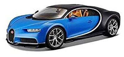 Maisto 1/24 Bugatti Chiron (Blue/Black) Diecast Model Car 1/24 Scale #31514blb