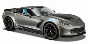 Maisto 2017 Corvette Grand Sport Coupe (Met. Grey) Diecast Model Car 1/24 Scale #31516gry
