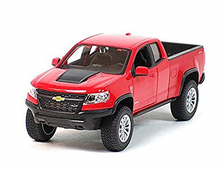 Maisto 2017 Chevrolet Colorado ZR2 Pickup Truck (Red) Diecast Model Truck 1/27 Scale #31517red
