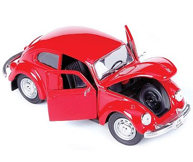Maisto International 1973 VW Beetle (Red) -- Diecast Model Car -- 1/24 scale -- #31926red