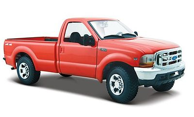 Maisto International Ford F350 Heavy Duty Pickup Truck (Red) -- Diecast Model Truck -- 1/27 scale -- #31937red