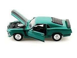 Maisto 1970 Ford Boss Mustang (Green) Diecast Model Car 1/24 Scale #31943grn