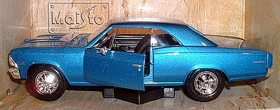 Maisto 1966 Chevelle SS396 (Met. Blue) Diecast Model Car 1/24 scale #31960blu