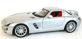 Maisto Mercedes Benz SLS AMG (Met. Silver) Diecast Model Car 1/18 scale #36196slv