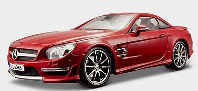 Maisto International Mercedes Benz SL63 AMG Hardtop (Red) -- Diecast Model Car -- 1/18 scale -- #36199red