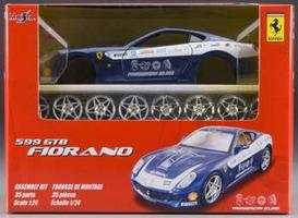 Maisto AL Ferrari 599GTB PanAmerican Blue Mtl Metal Body Plastic Model Car Kit 1/24 Scale #39109