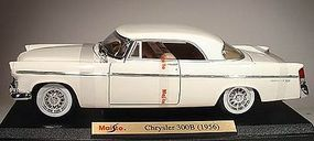 Maisto 1956 Chrysler 300B (White) Diecast Model Car 1/18 Scale #897wht
