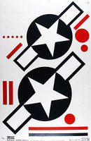 Major-Decals Pressure Decal US Stars & Bars 1/4 Scale