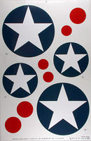 Major-Decals Pressure Decal US Stars 1/4 Scale