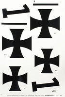 Major-Decals Pressure Decal German WWI Iron Crosses 5-1/2&6-1/2