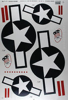 Major-Decals Pressure Decal US w/Bars .60
