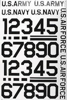 Major-Decals Pressure Decal Numbers Black 3