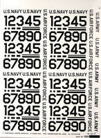 Major-Decals Pressure Decal Numbers Black 1