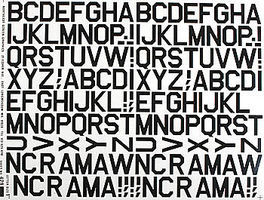 Major-Decals Pressure Decal Alphabet Black 1