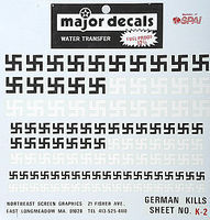 Major-Decals Water/German Kill Markings