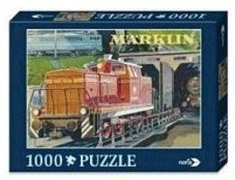 Marklin Marklin V60 Diesel Locomotive Puzzle 1000 Pieces Model Railroad Puzzle Print Sign #15963