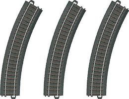 Marklin 3-Rail C Track Curved Sections pkg(3) HO Scale Nickel Silver Model Train Track #20130
