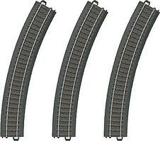 Marklin 3-Rail C Track Curved Sections pkg(3) HO Scale Nickel Silver Model Train Track #20230