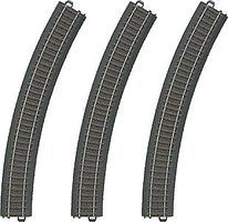 Marklin 3-Rail C Track Curved Sections pkg(3) HO Scale Nickel Silver Model Train Track #20330
